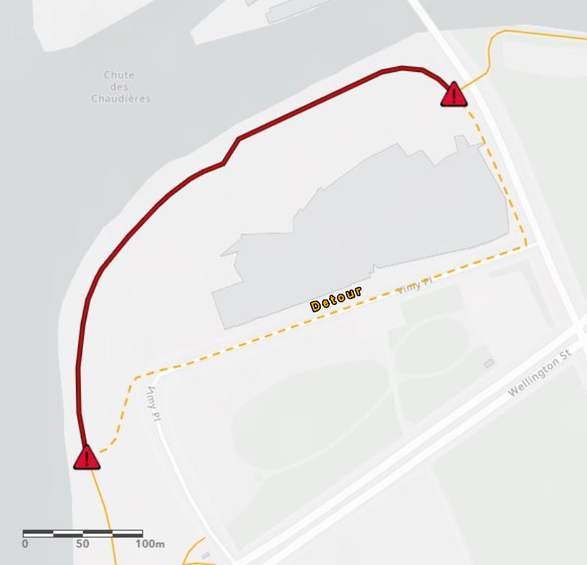 Closure of a section of the Ottawa River Pathway and detour