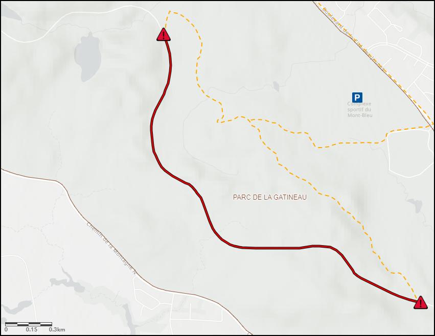 Fermeture d'un tronçon de la promenade de la Gatineau, du 11 au 15 novembre