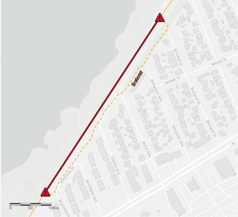 Closure of a section of the Ottawa River Pathway