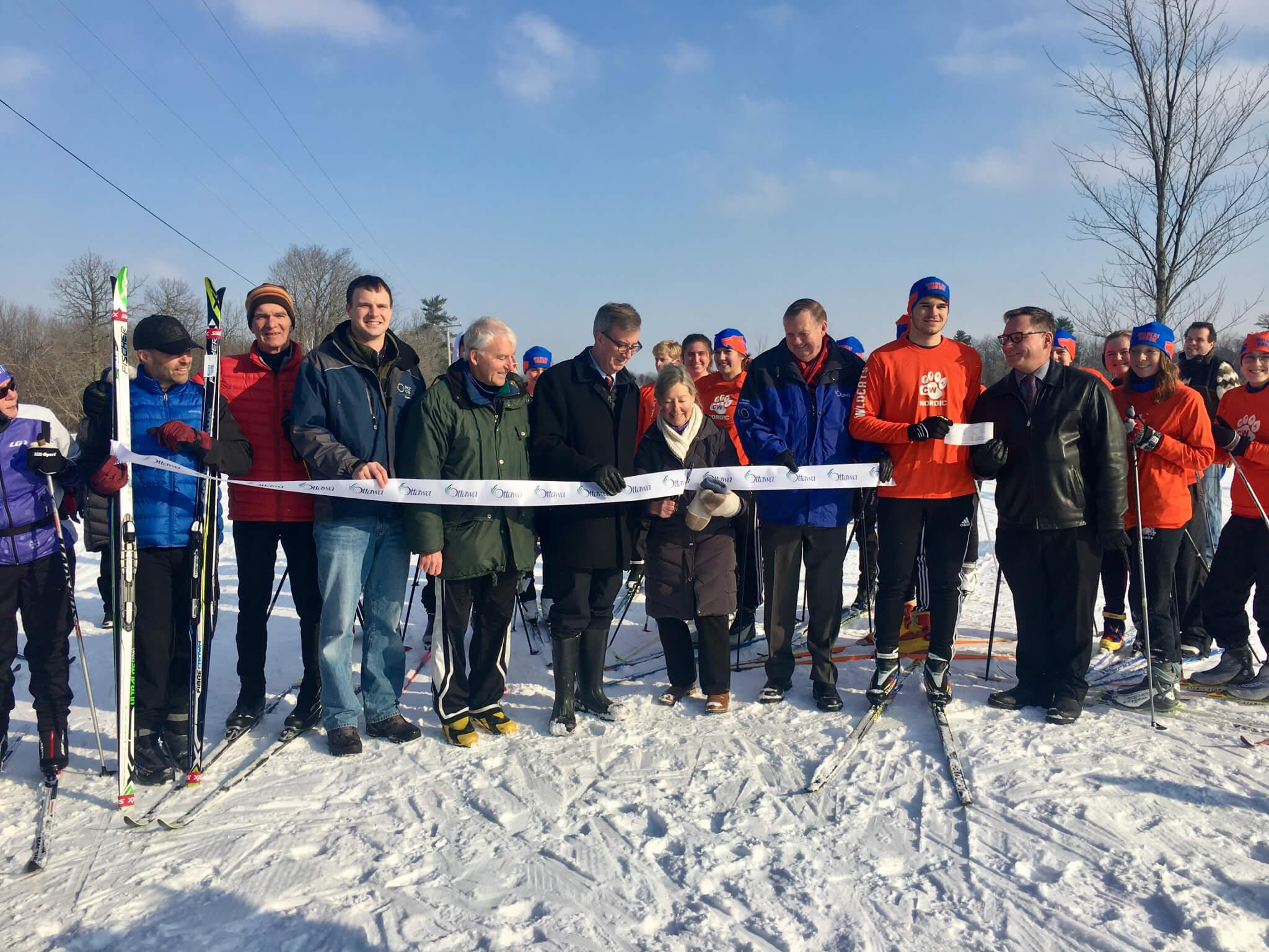 L'ouverture du sentier d'hiver Ski Héritage Est en janvier 2018.