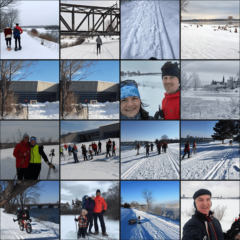 Photos de visiteurs affichées sur la page Facebook du sentier d'hiver SJAM