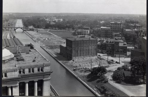 Panorama view, Confederation park area, from Chateau Laurier Tower. July 9, 1928. Credit: Library and Archives Canada / National Capital Commission fonds / e999908733