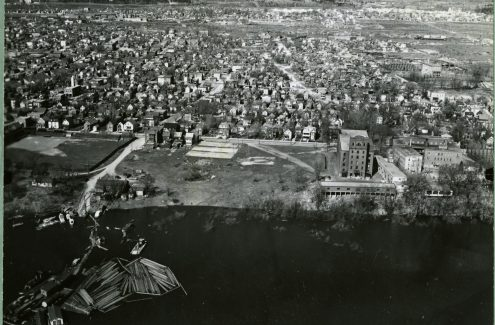 Aerial view of Jacques Cartier Park, Hull, Quebec. Credit: Library and Archives Canada / National Capital Commission fonds / e999914948