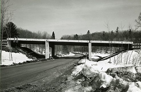 The parkway network under construction.