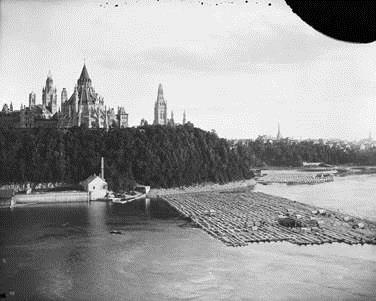 Ruines d'une scierie au bord de la rivière, Bibliothèque et Archives Canada