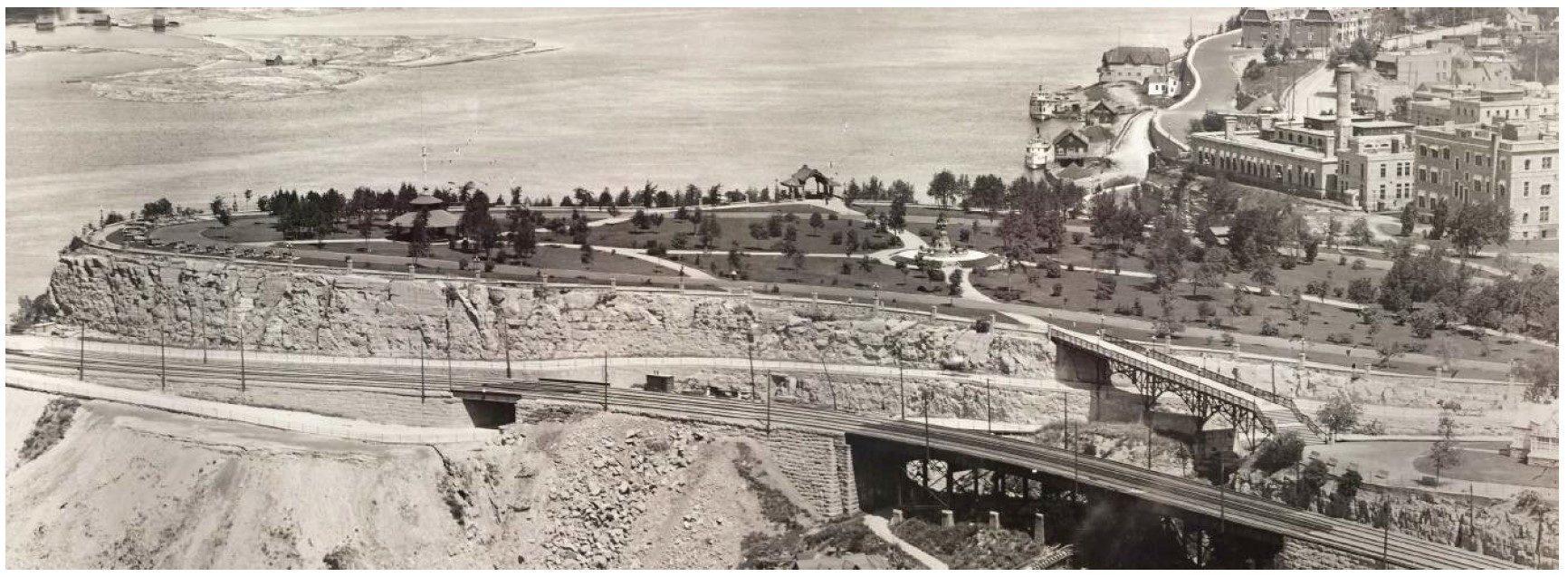 Vue panoramique de la Pointe Nepean en 1915.