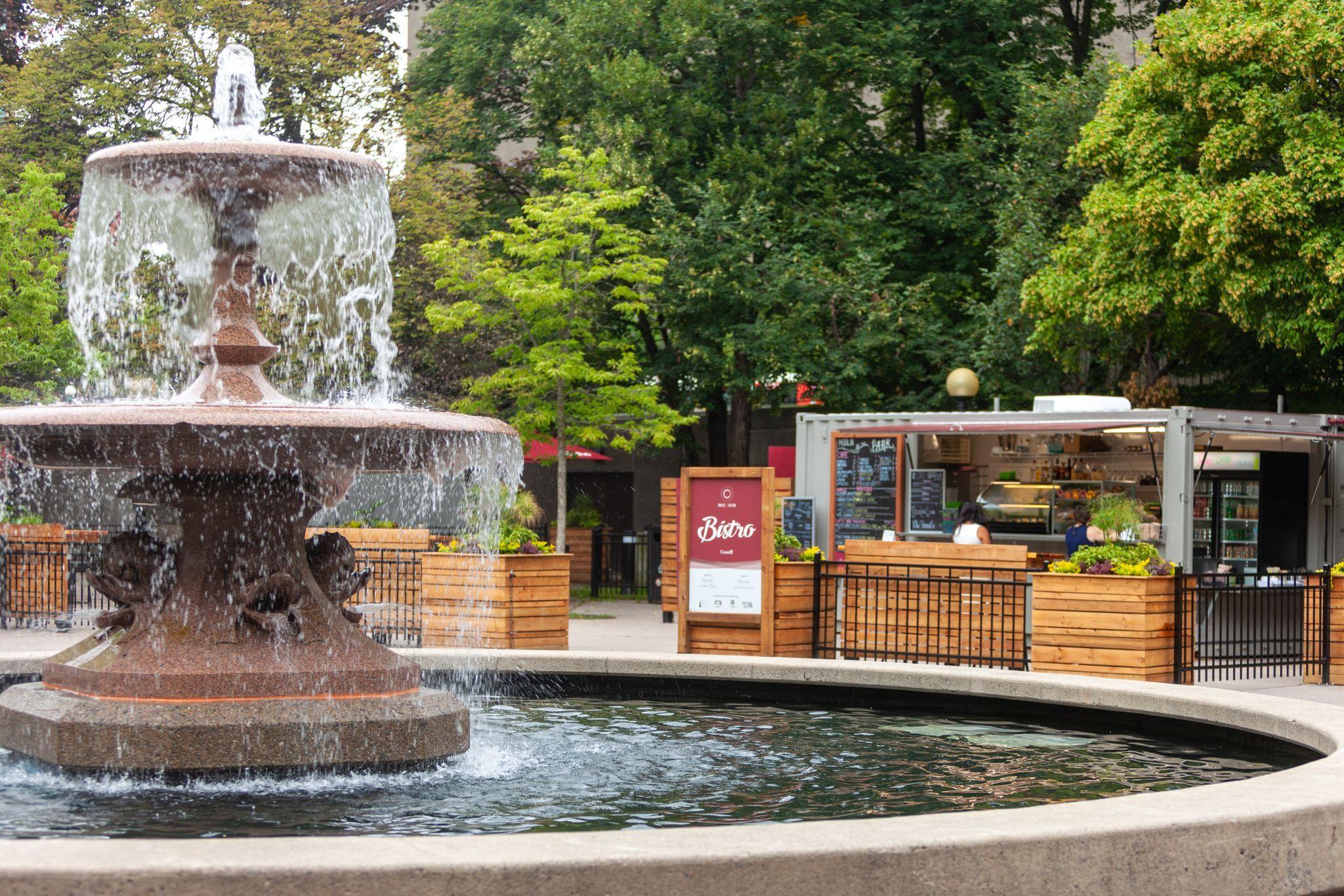 Bistro patio at Confederation Park.