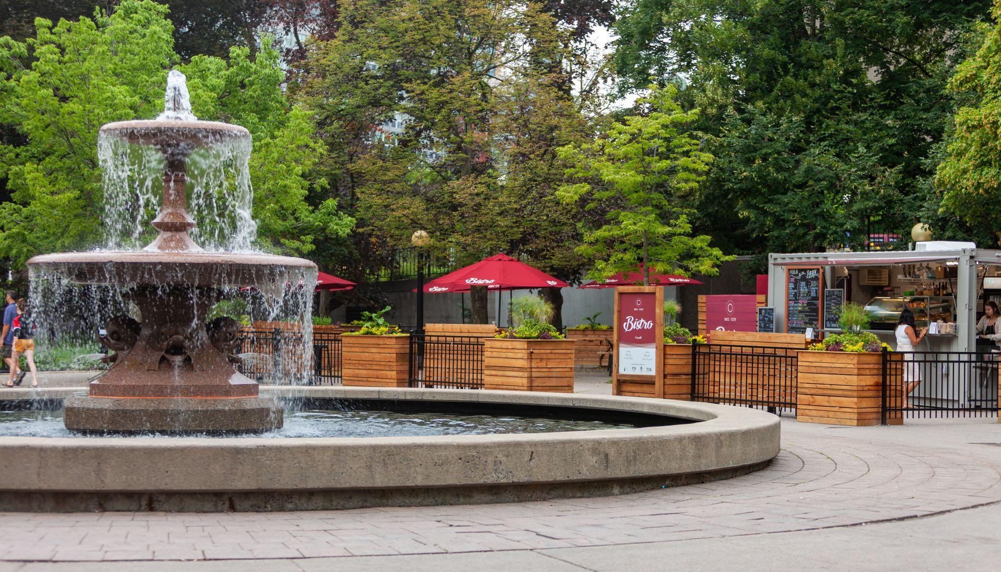 Fontaine du parc de la Confédération