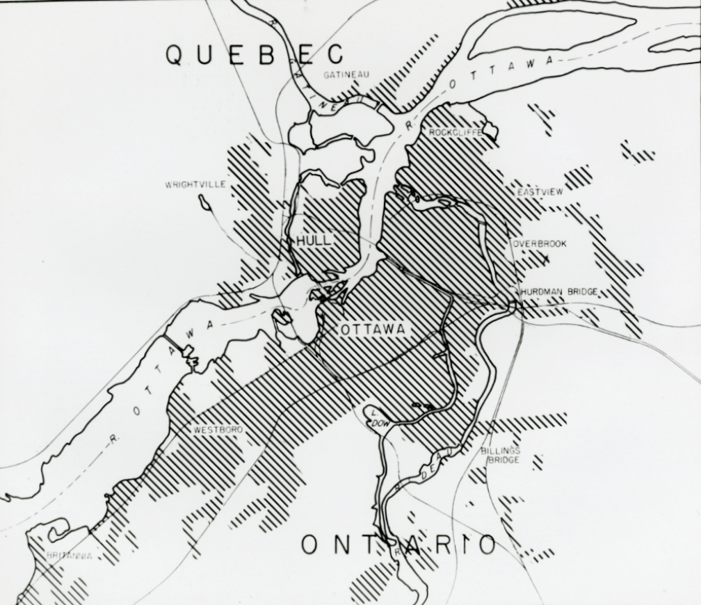 Ottawa and Hull. 1945. Credit: Library and Archives Canada / E999913861