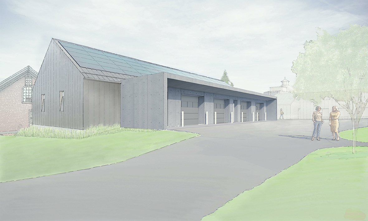 Rendering of the building