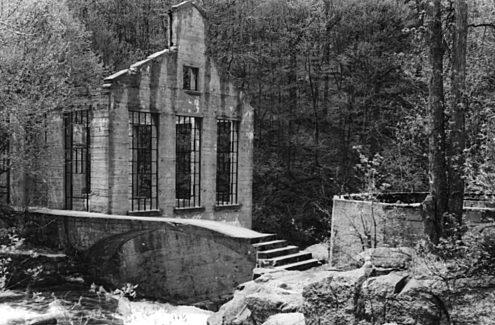 Les ruines de l'ancien moulin - Crédit : Société historique de la Vallée de la Gatineau