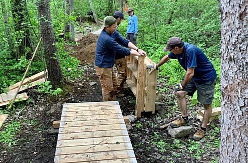 Volunteers at work in the Park