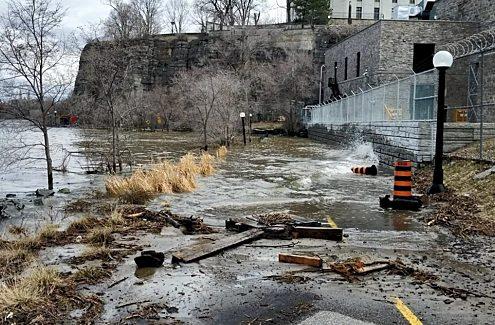 Sentier de la Rivière-des-Outaouais, pendant les inondations de 2019