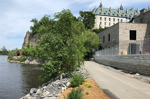 Ottawa River Pathway, after the floods (work completed)