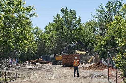 Demolition on Atlantis Avenue