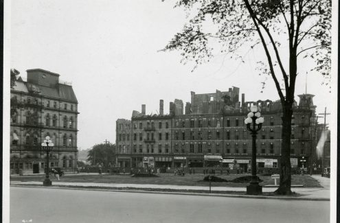 Confederation Park from Wellington Street, July 23, 1928. Source: Library and Archives Canada (e999908877-u)