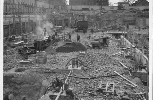 Construction du bâtiment du ministère des Anciens Combattants. Crédit : Commission de la capitale nationale