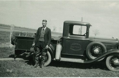 Federal District Commission Truck – probably part of mosquito control. Credit: National Capital Commission