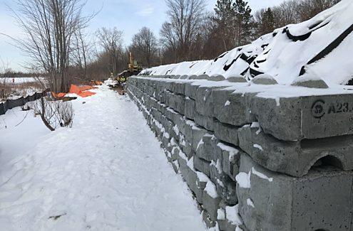 Mur de soutènement du sentier Britannia