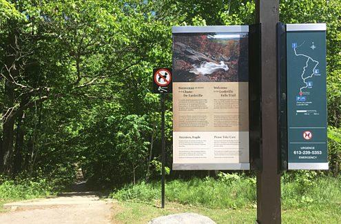 Luskville Falls trailhead