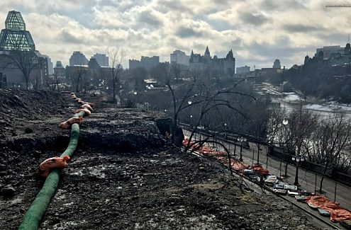 View of Ottawa from Nepean Point, currently under redevelopment
