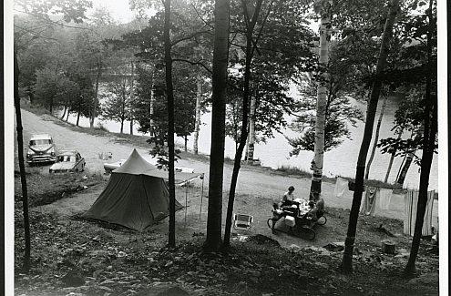 Le premier terrain de camping au parc de la Gatineau.