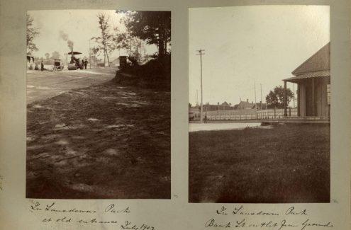 Parc Lansdowne. Juillet 1902. Source : Bibliothèque et Archives Canada (e999912052-u)