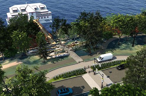 Rendu du Pavillon de la rivière de la capitale nationale