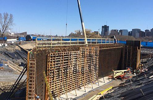 Work continues on the Sir John A. Macdonald LeBreton Bridge.
