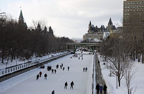 Skaters on the Rideau Canal Skateway