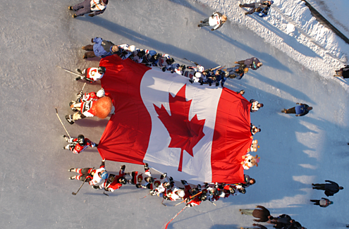 In 2005, 110 shinny hockey games took place on the Rideau Canal Skateway to celebrate Hockey Day in the Capital.