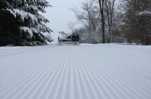 Freshly groomed SJAM Winter Trail.