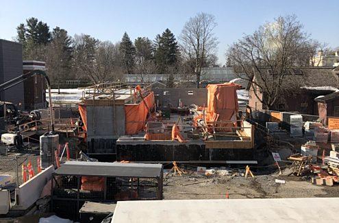 Site en construction, mars 2021