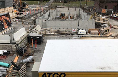 Site en construction, novembre 2020