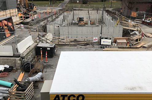 Site under construction, November 2020