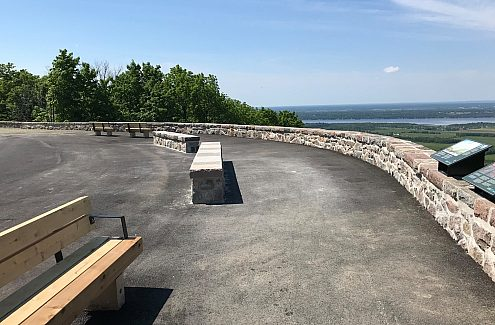 Completed work at Champlain Lookout