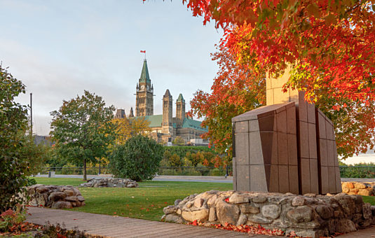 View of the Parliament Buildings from Major's Hill Park