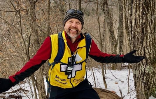 Portrait of a volunteer in Gatineau Park