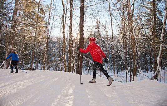 A skier enjoying the trails in Canada's Capital Region