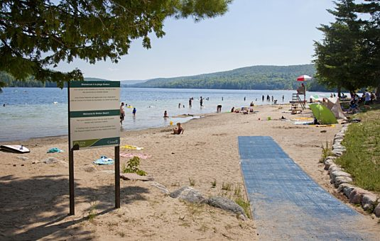 La plage Parent au lac Philippe