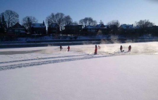 Flooding the Rideau Canal Skateway