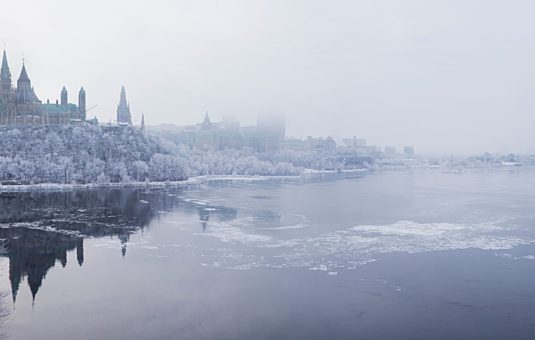 Winter view of Parliament Hill