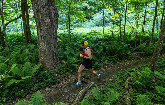 Trail Running with Ray Zahab in Gatineau Park